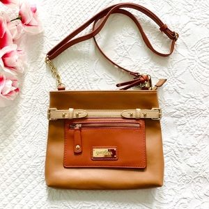 Spartina All Leather Tan Shoulder Bag Crossbody